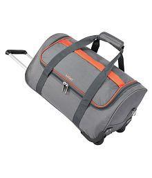 Safari Grid Trolley Duffle Grey Size 55 cm Bag