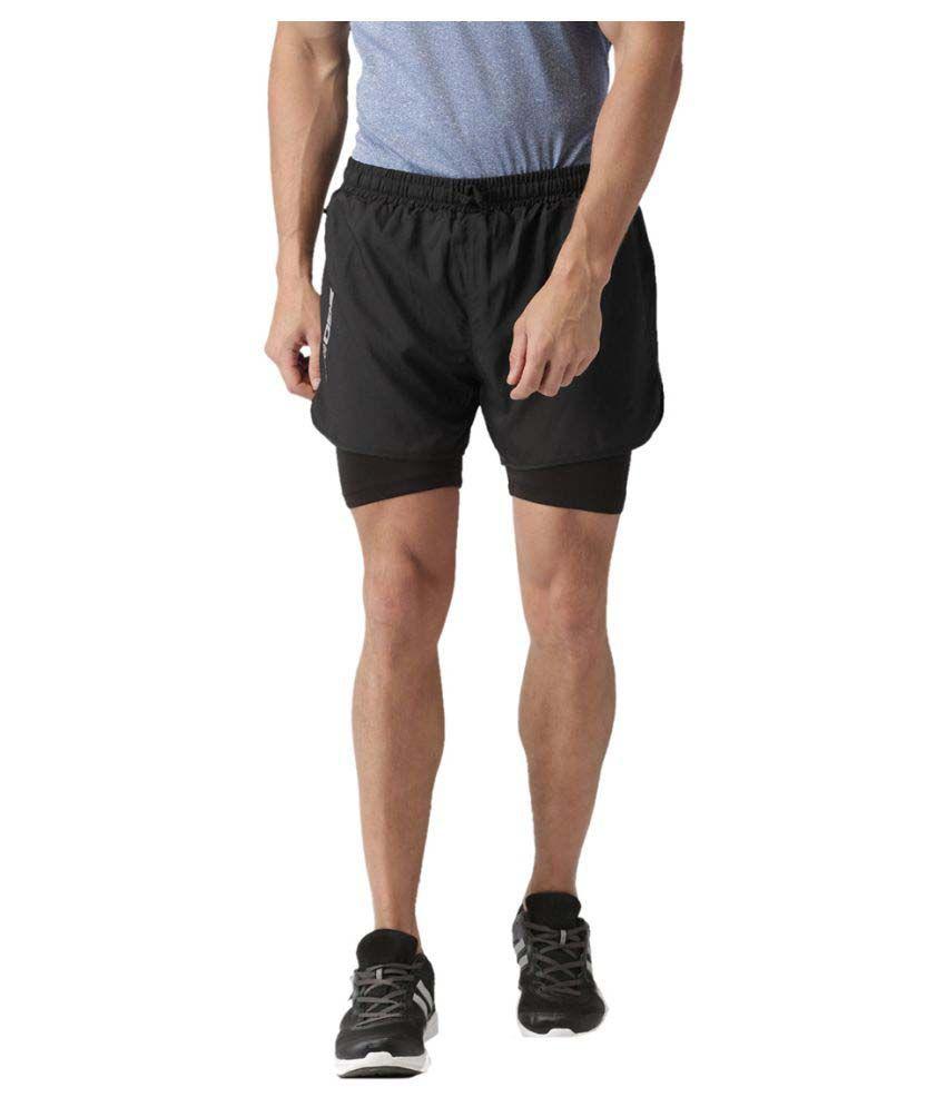 2GO Bold Black GO Dry Sports Shorts