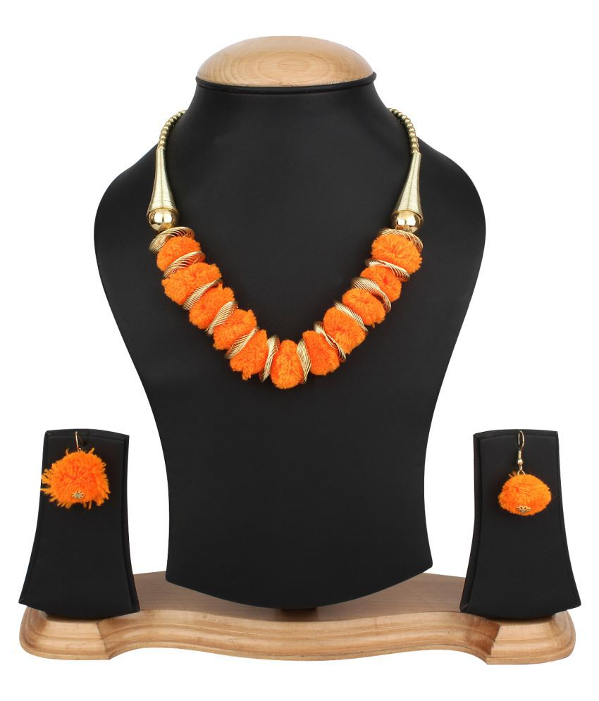 Jewels Gehna Alloy Party Wear & Wedding Necklace With Earring Set For Women & Girls