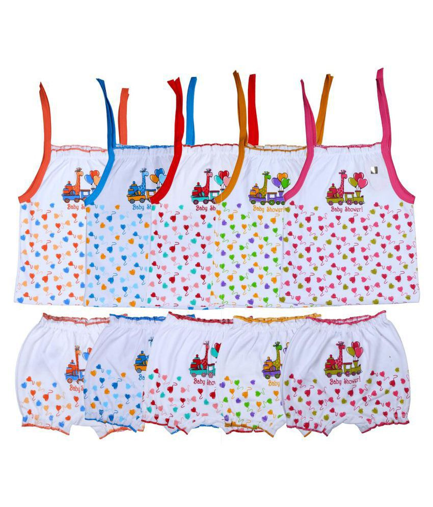 d68647f8e664 New Born Baby Dress Printed Top&Bottoms White-154 (0-6M - S)-Pack Of 5: Buy  New Born Baby Dress Printed Top&Bottoms White-154 (0-6M - S)-Pack Of 5 at  Best ...
