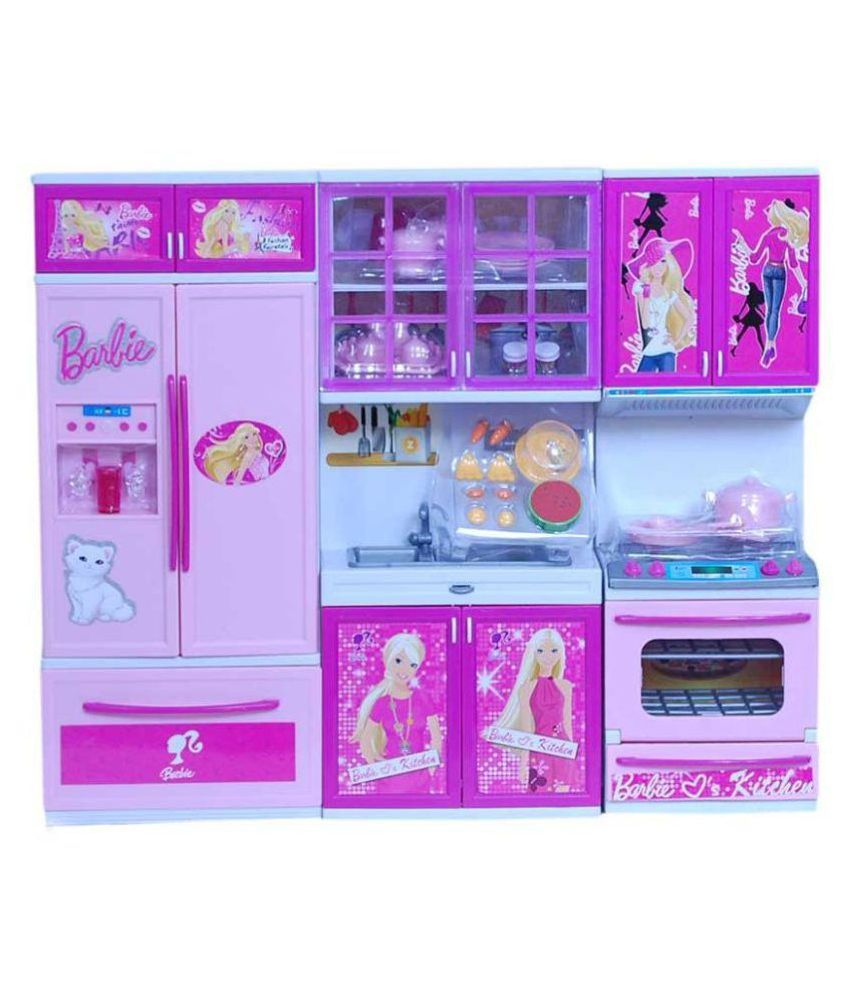 Dwiza kitchen play set with refrigerator cook top and for Kitchen set naaptol
