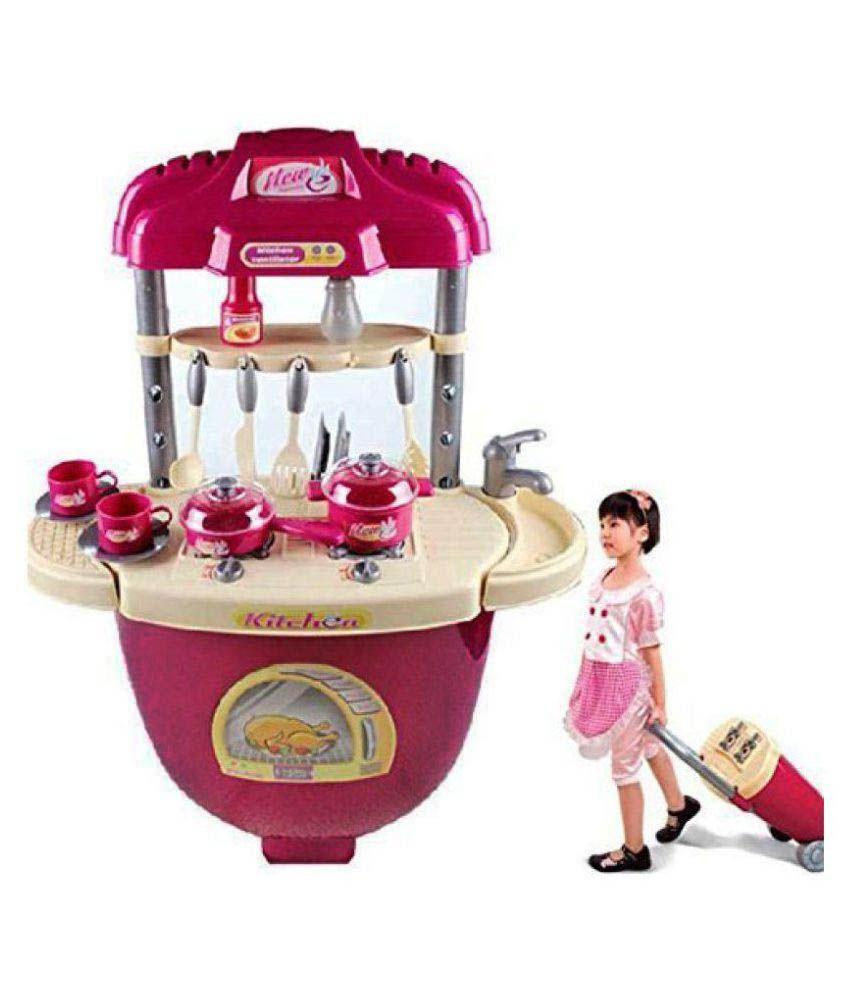 DWIZA Multi Little Chef Kids Kitchen Play Set with Light & Sound ...