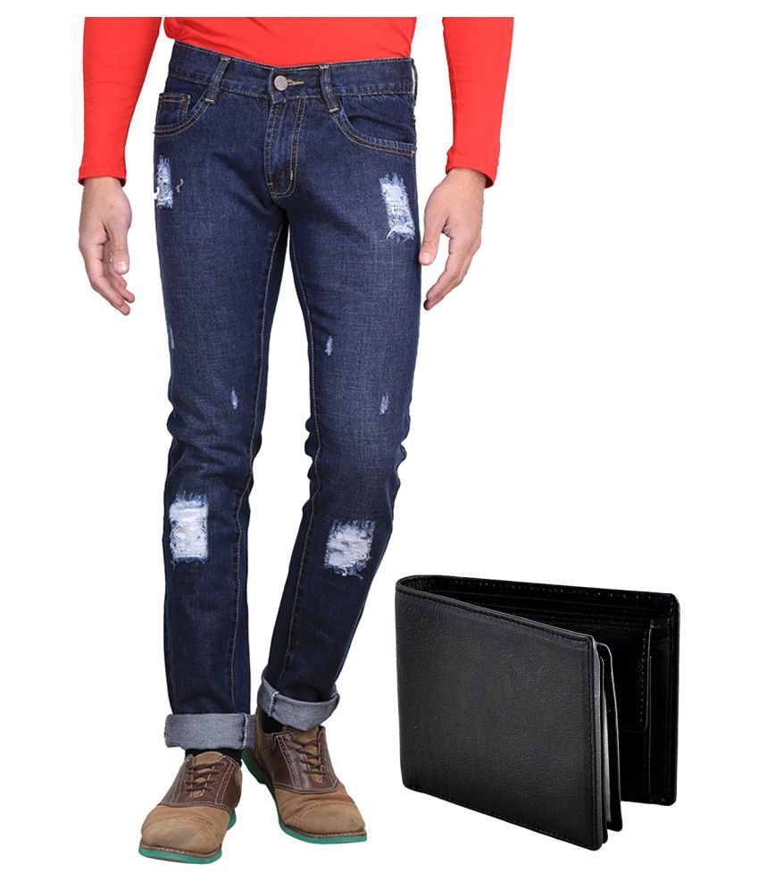 Van Galis Blue Regular Fit Jeans