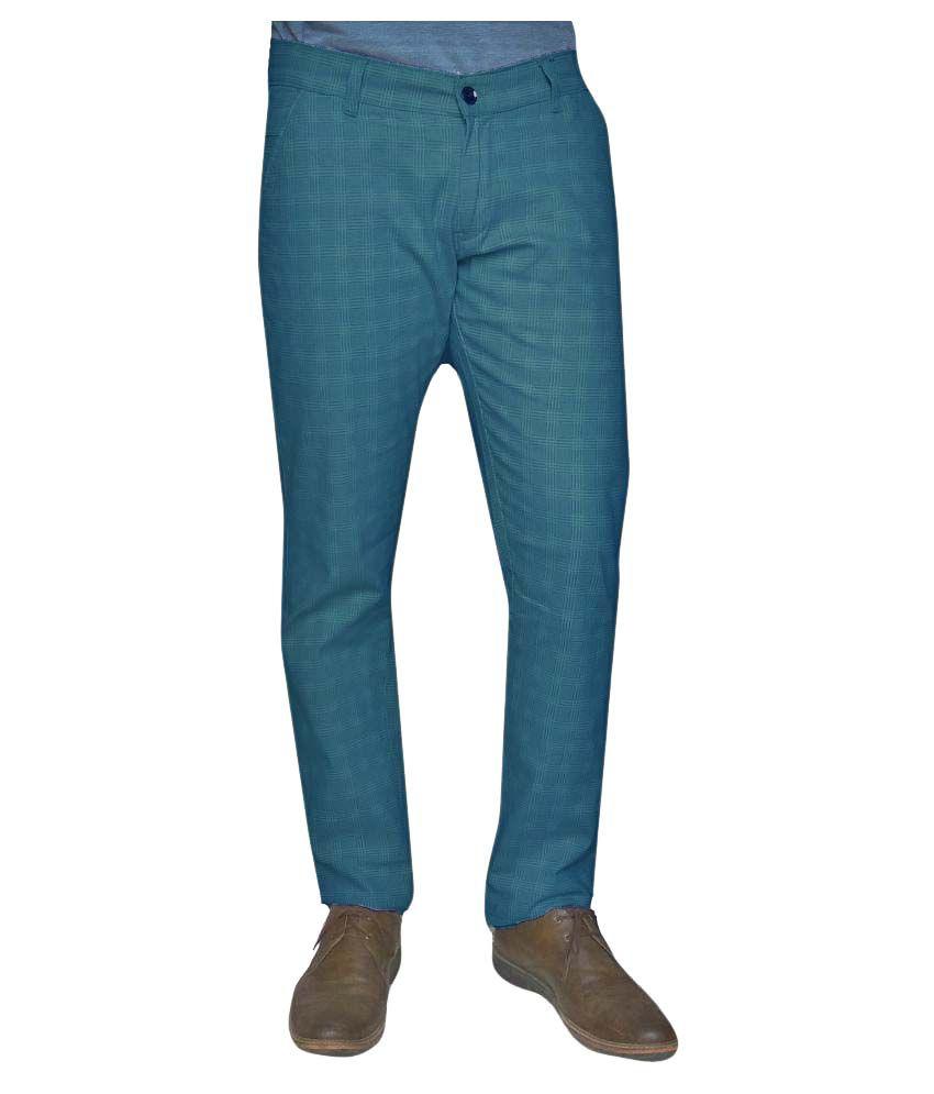 Damler Blue Regular -Fit Flat Chinos