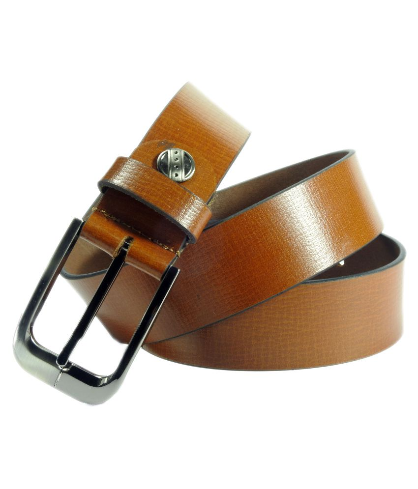 Vogard Tan Leather Formal Belts