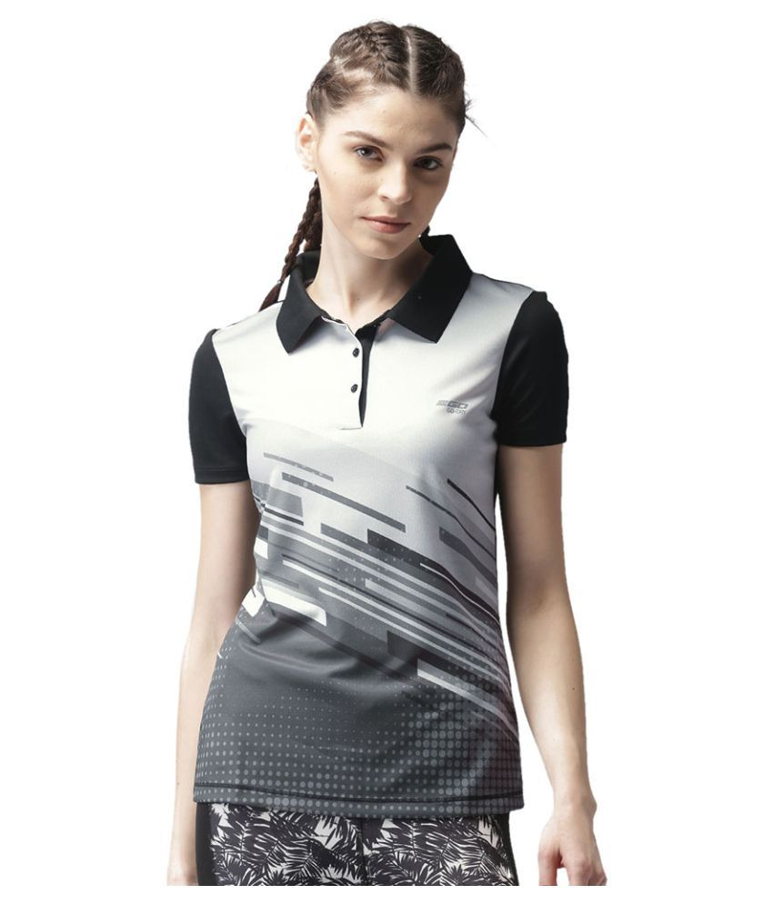 2GO Bold Black Print Polo T-shirt