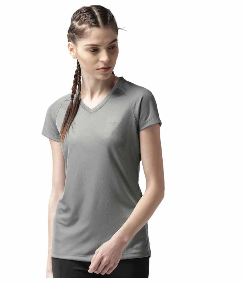 2GO Sweaty Grey V-neck Hlaf sleeves T-shirt
