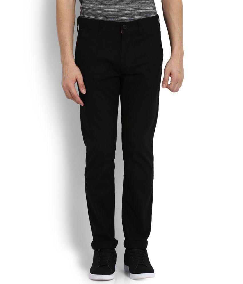 Integriti Black Slim -Fit Flat Trousers