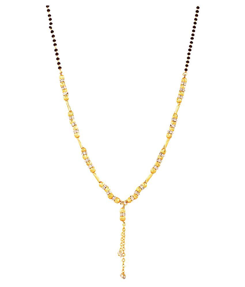 Zeneme Filligree gold plated mangalsutra set