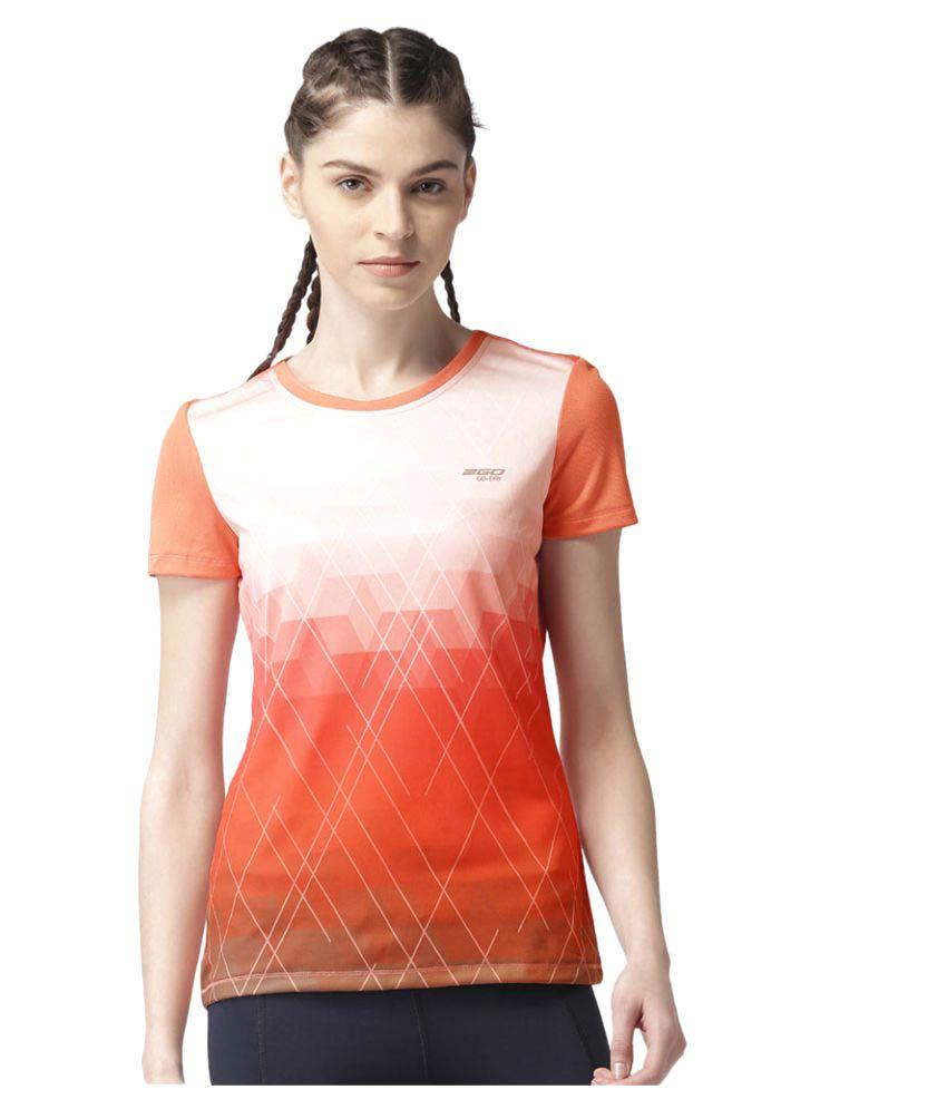 2GO Peach Print Round neck Half sleeves T-shirt