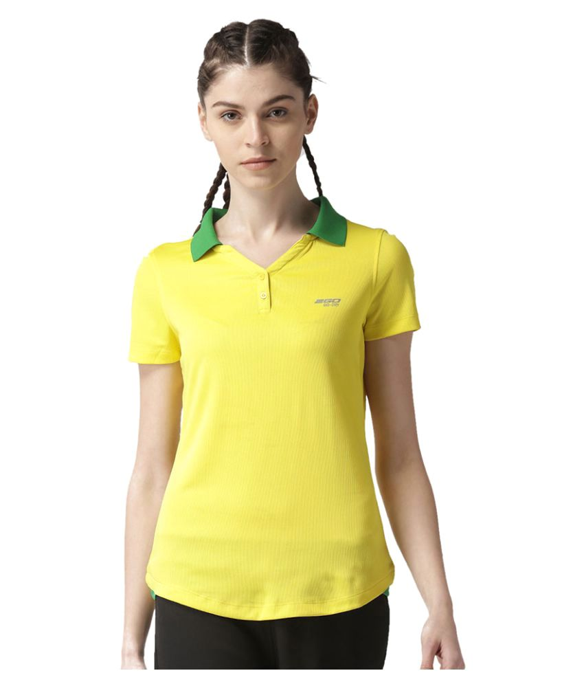 2GO Spring Yellow/Track Green Polo T-shirt