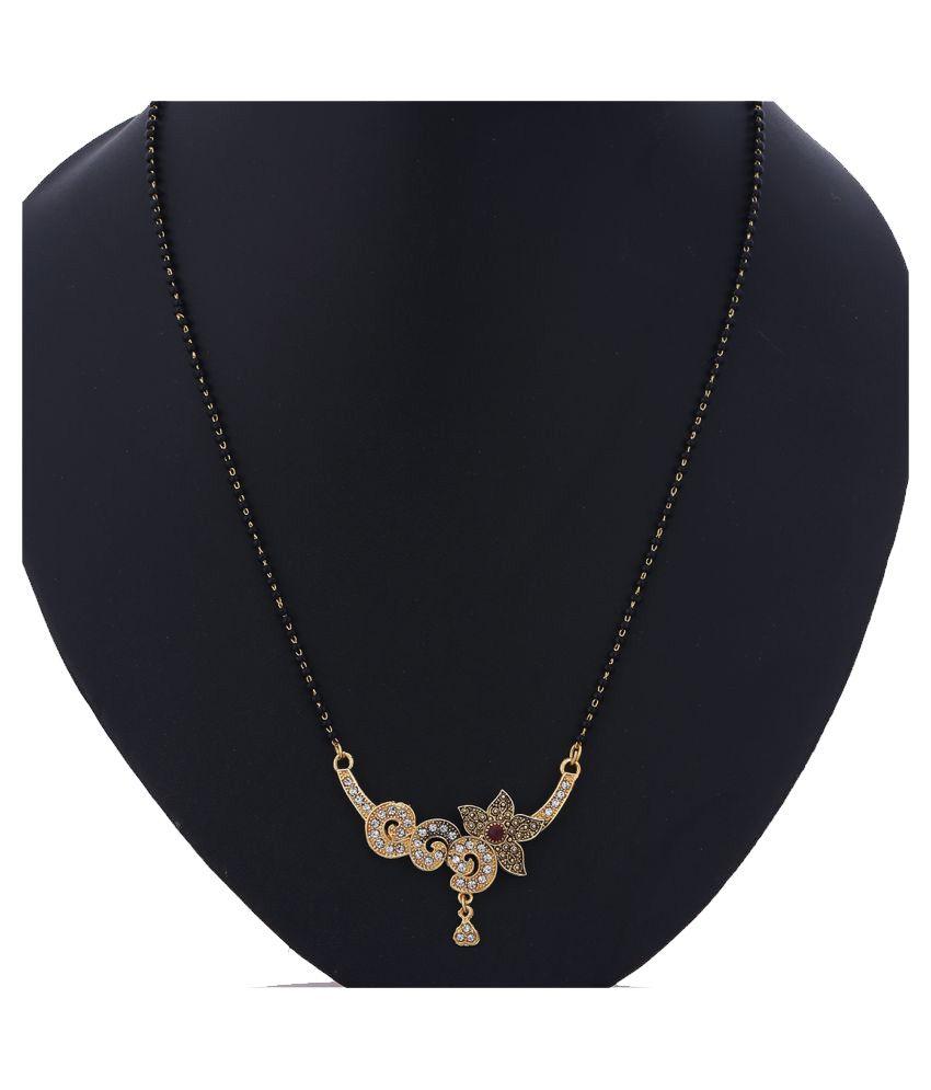 Zeneme Women's Pride Latest Fashionable American Diamond Alloy Jewellery Mangalsutra