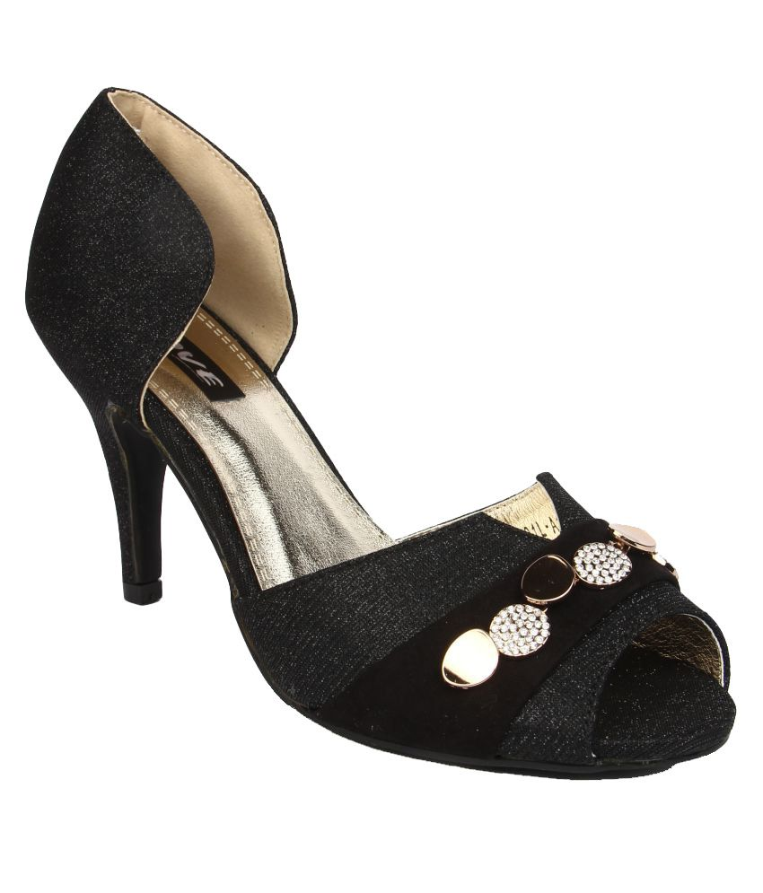 Jove Black Kitten Heels