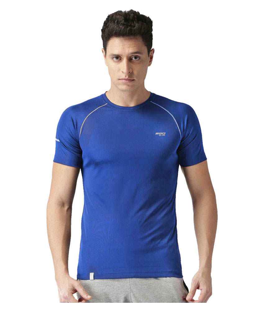 2GO Dare Navy GO Dry Athlete half sleeves T-shirt For Gym Wear