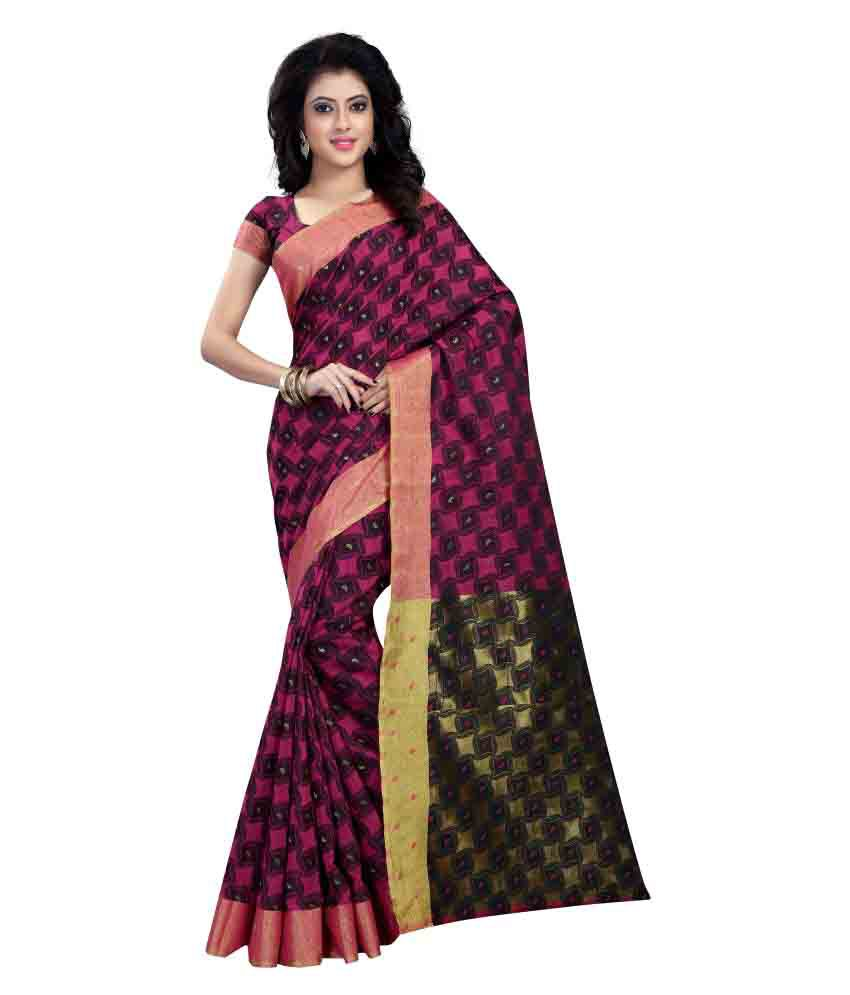 Ladie Silk Multicoloured Cotton Silk Saree
