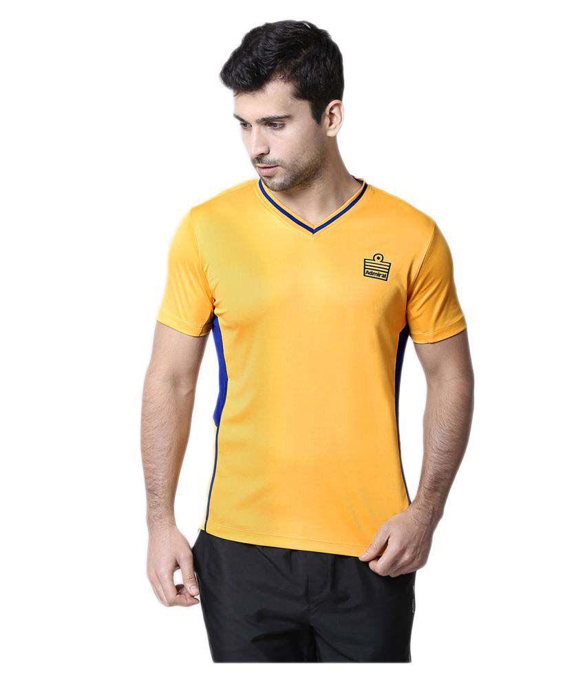 Admiral Yellow V-Neck T-Shirt