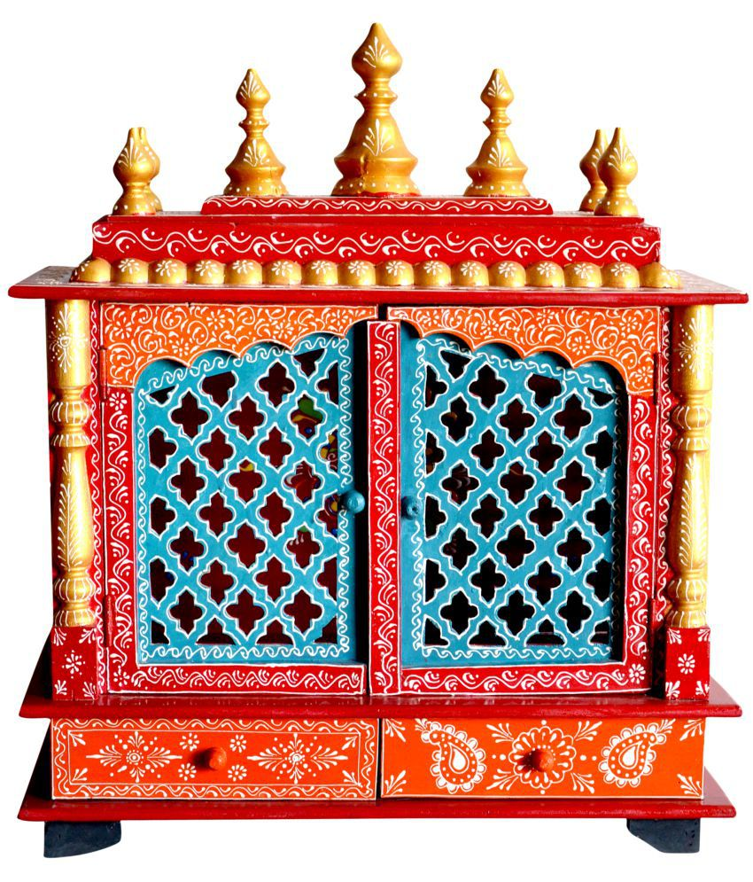 New star home decor multicolour wood hanging mandir buy for Star home designs products
