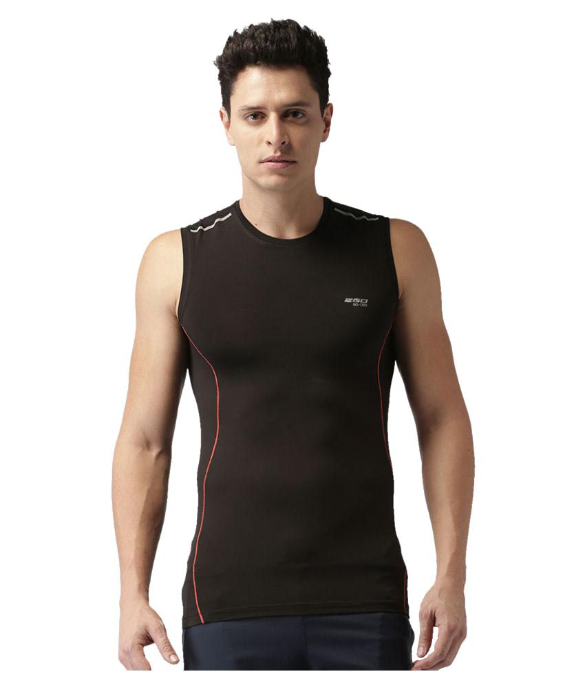 2GO Bold Black Sleeveless Training T-shirt