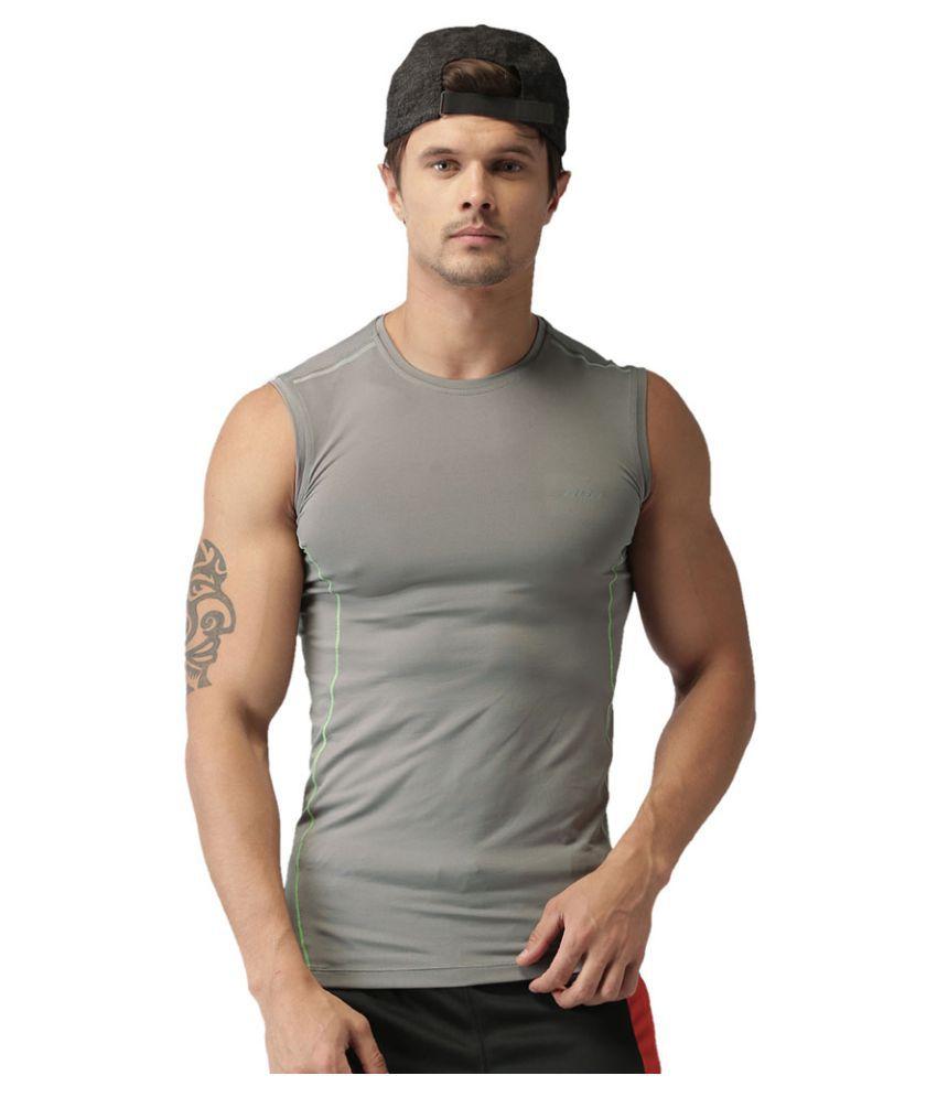 2GO Sweaty Grey Sleeveless Training T-shirt