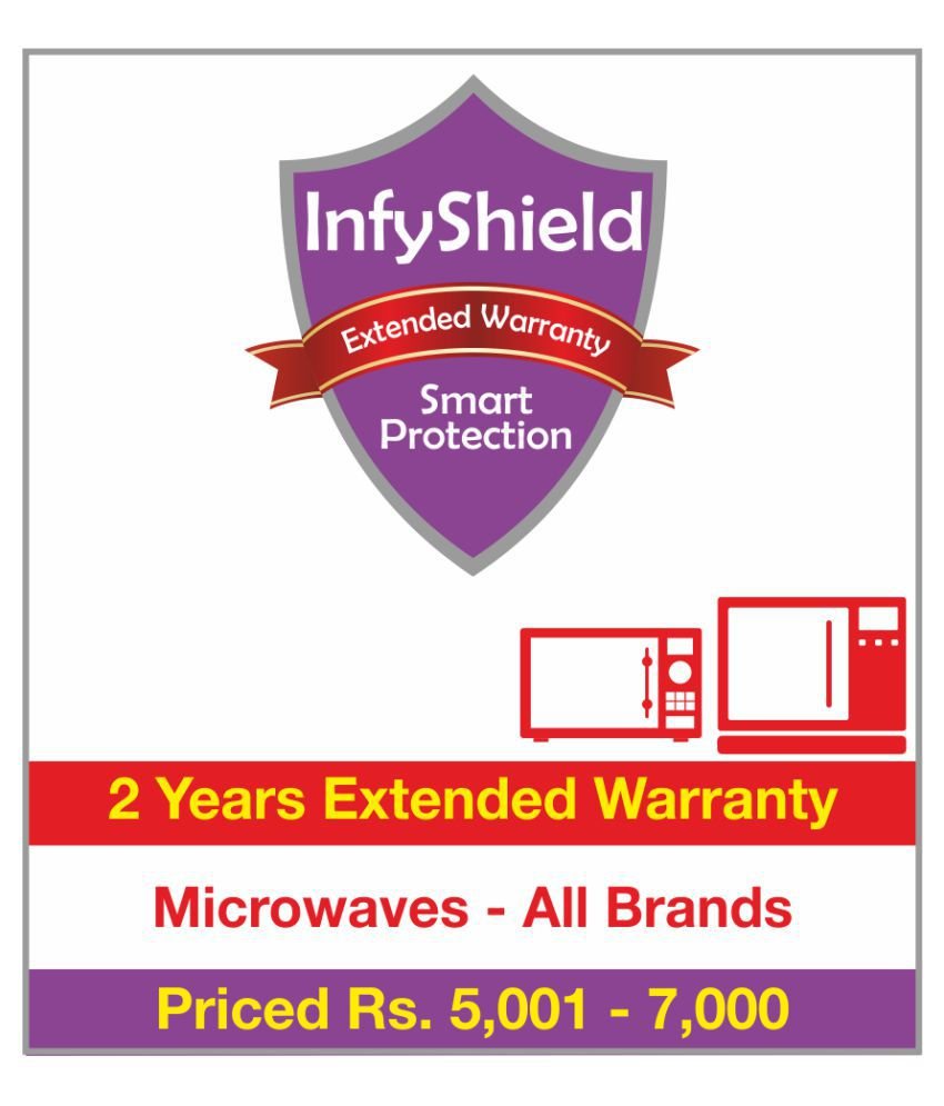 Infyshield Microwave Extended Warranty 5001 7000