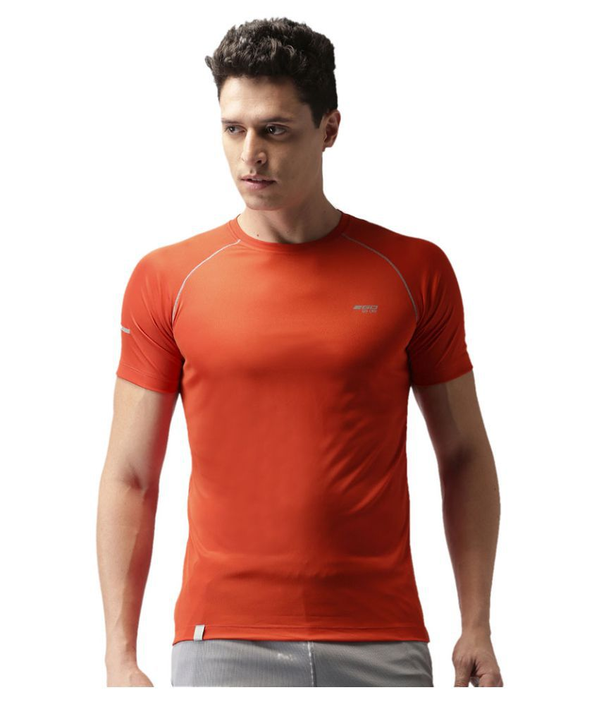 2GO Orange  GO Dry Athlete half sleeves T-shirt
