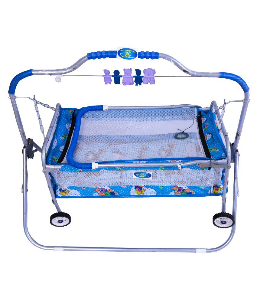 KGC Networks Kids Baby Multifunctional Baby Best Bassinet Cradle with Mosquito Net (SCBAGGIJHULLA6PCBLUE137-137)