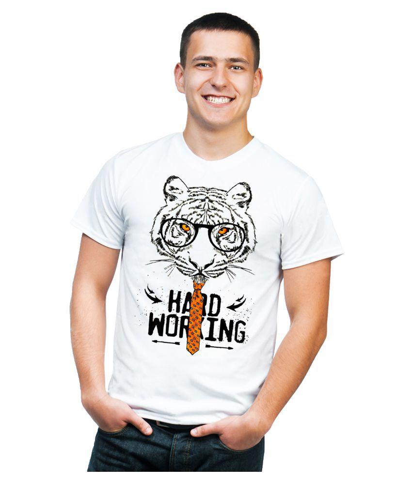 Mukesh Handicrafts White Round T-Shirt