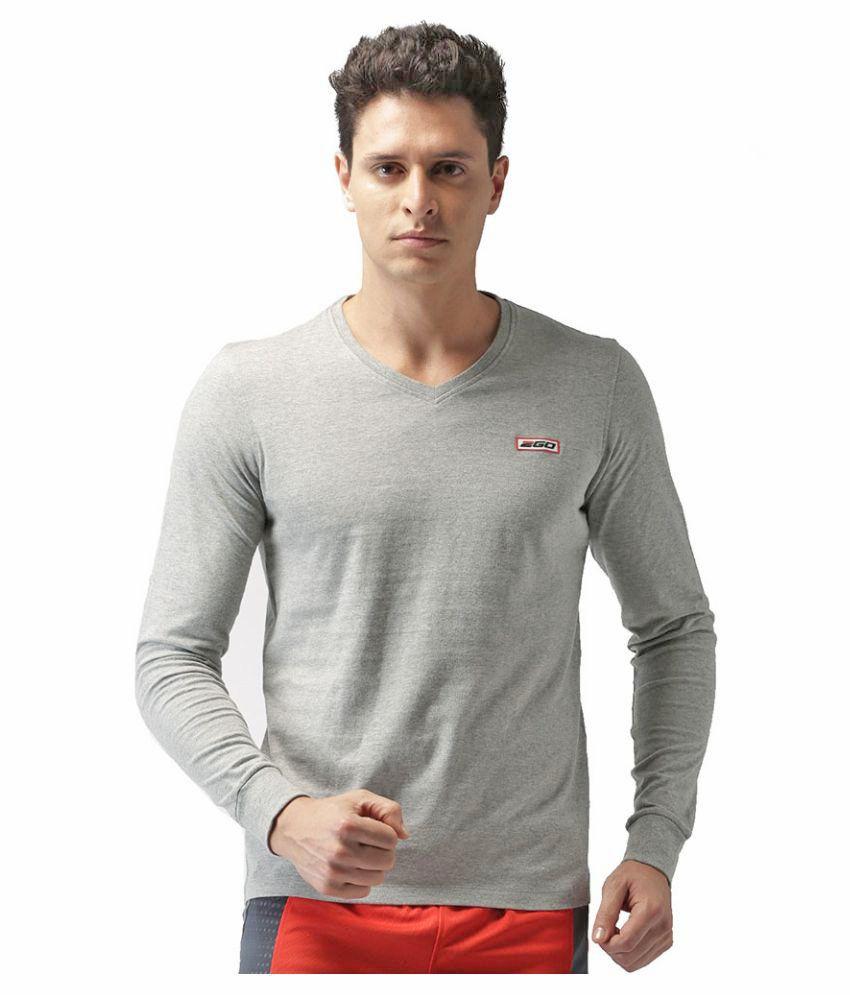 2GO Greymel Full sleeves V-Neck T-shirt