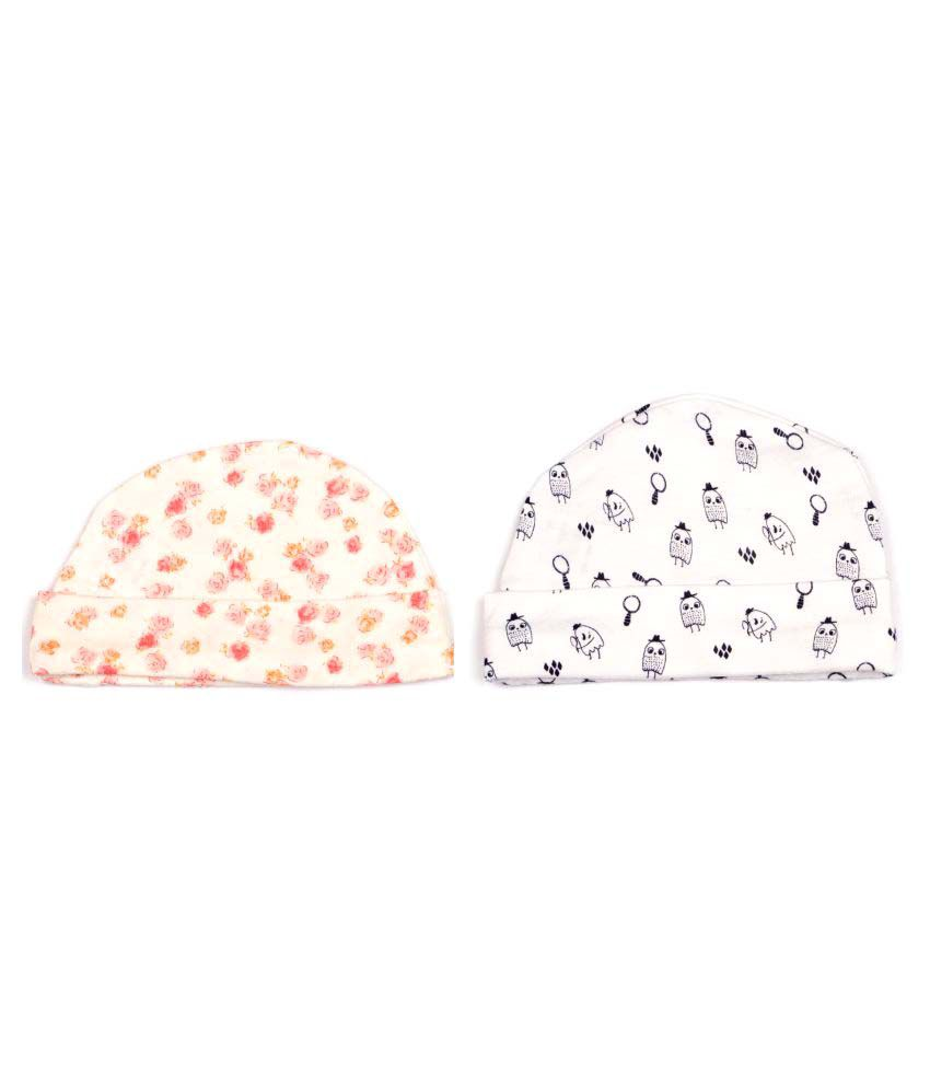 Pikaboo Brinted Caps for Baby Boys and Girls (Set of 2)