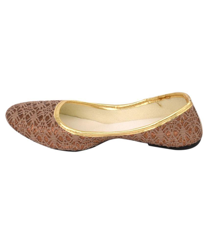 Decot Paradise Brown Flat Ethnic Footwear