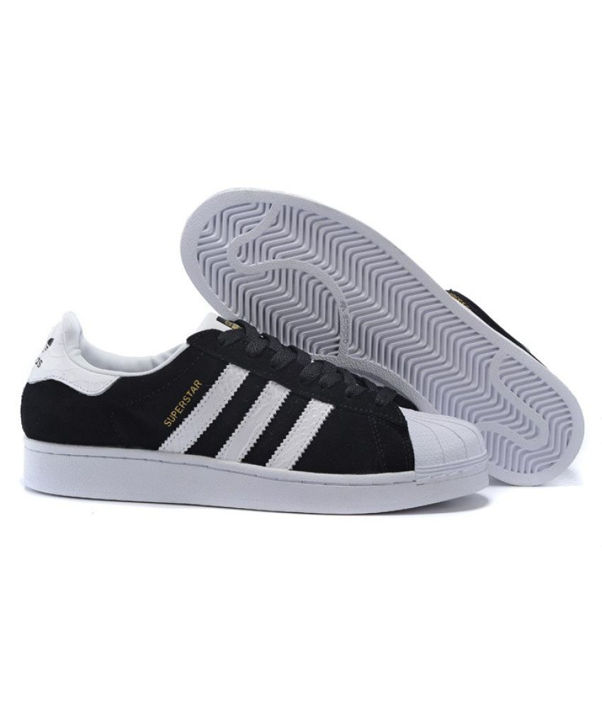 adidas superstar black and white india