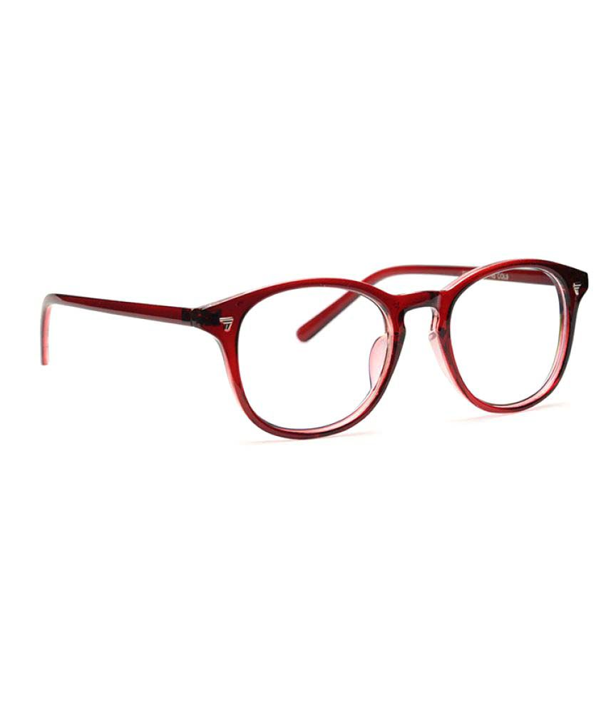 Discovery Maroon Round Spectacle Frame NA