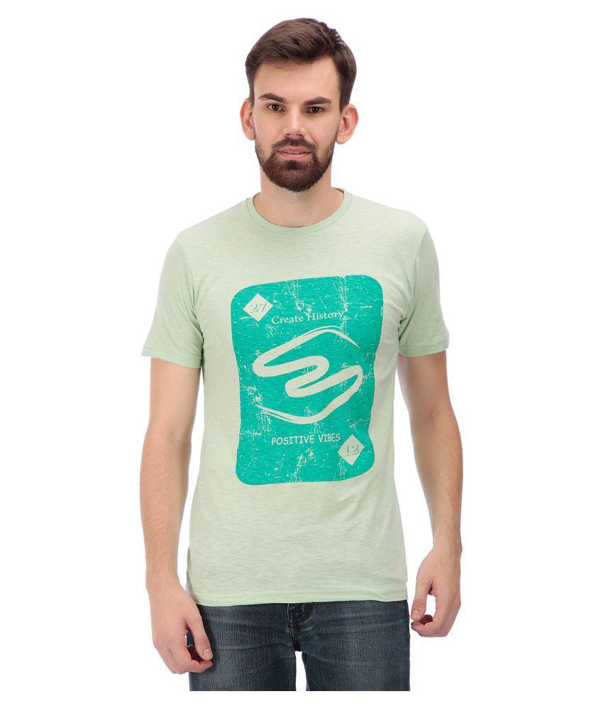 TAG 7 Green Round T-Shirt