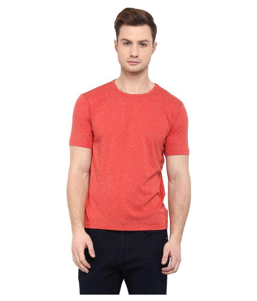 Upbeat Orange Round T-Shirt
