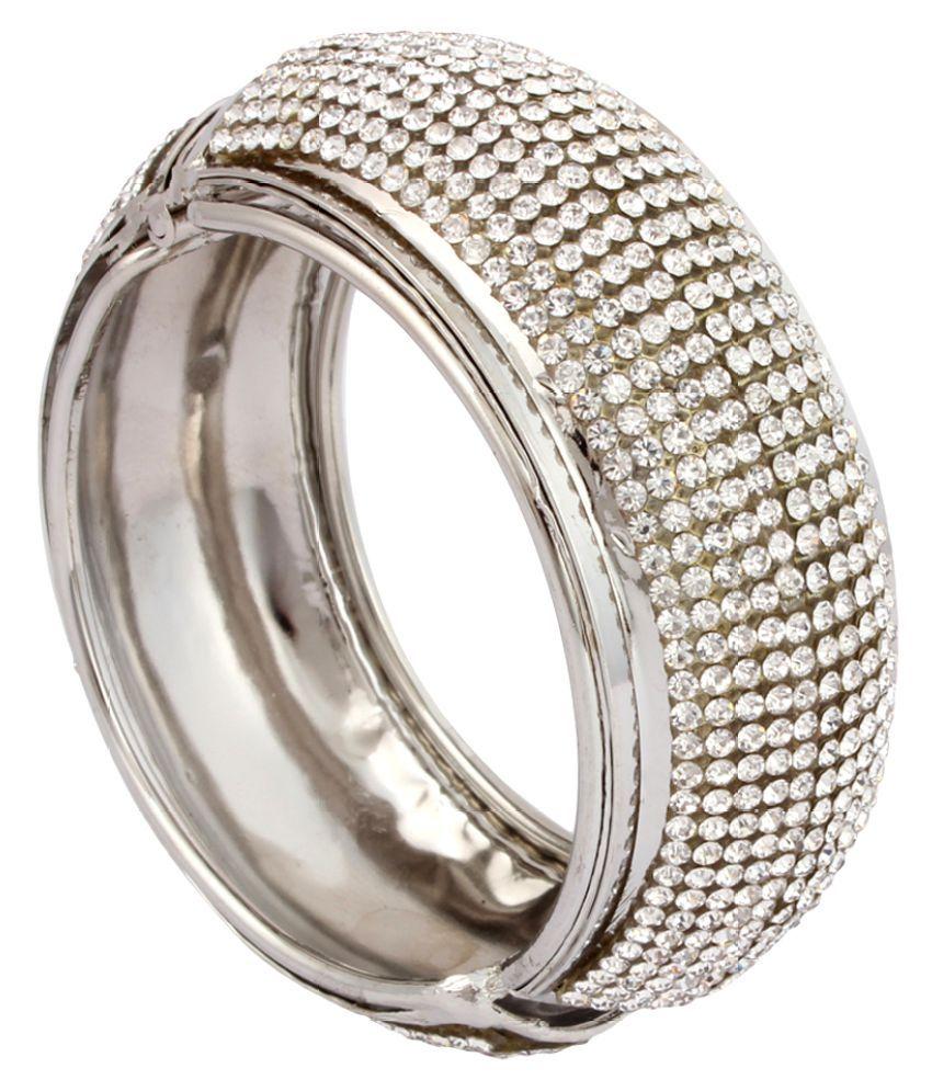 FineDeal Bracelets For Ladies & Girls Silver Color