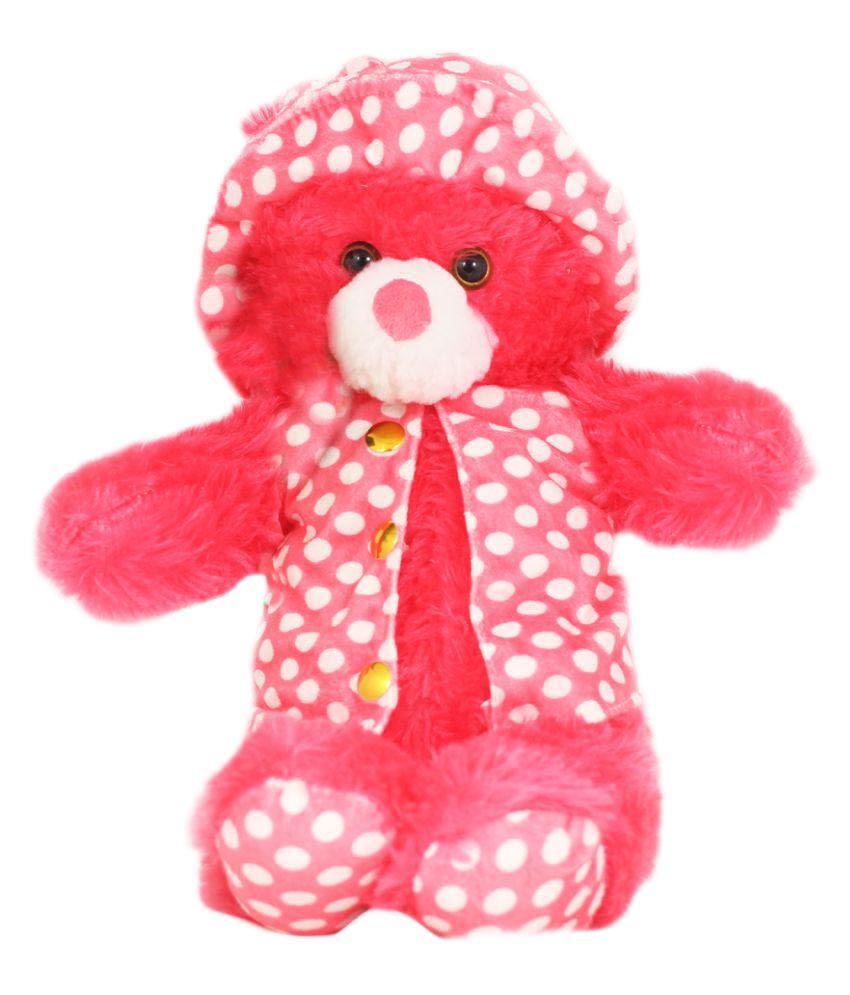 Tickles Megenta Jacket Teddy bear stuffed love soft toy for boyfriend, girlfriend 35 cm
