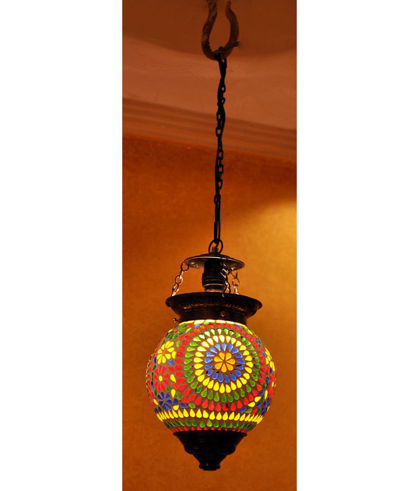Lal haveli glass home decoration indoor ceiling light night lamp lal haveli glass home decoration indoor ceiling light night lamp pendant multi pack of 1 aloadofball Image collections