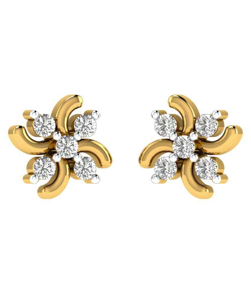 Sri Jagdamba Pearls 18k Gold Diamond Studs