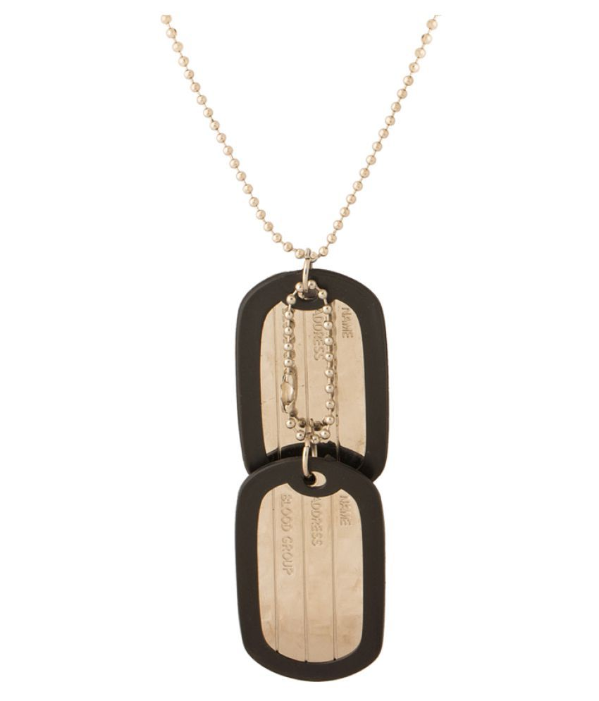 Dare Dog Tag Designer  Pendant With Chain For Men