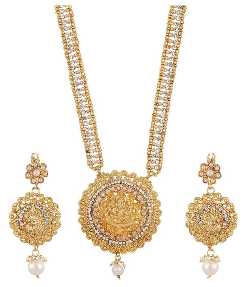 FJ STYLE LUCKY LAXMI JI NECKLACE SET