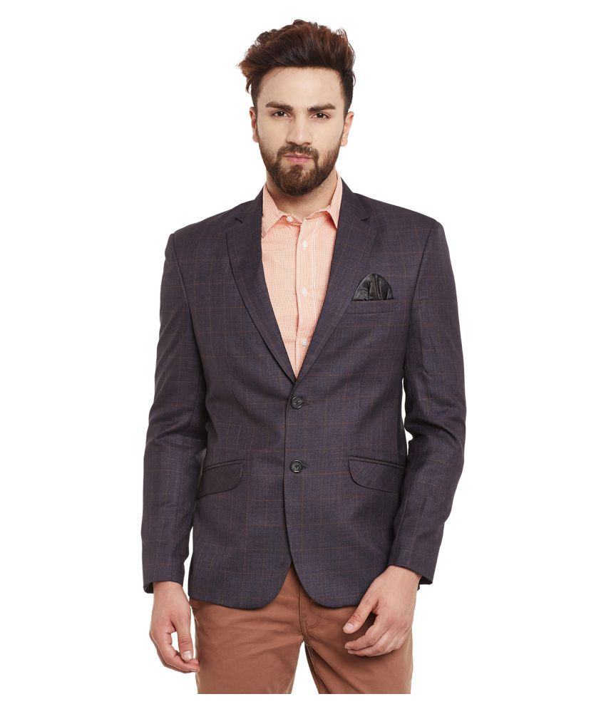 Canary London Brown Checks Casual Blazers