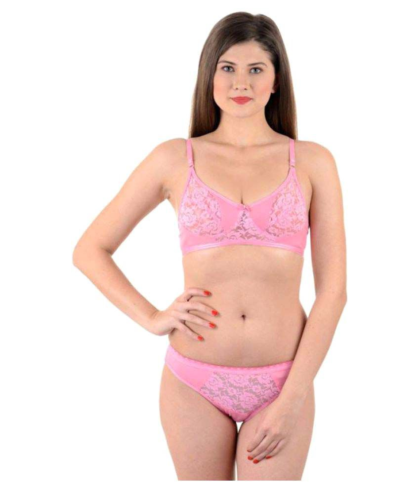 8da348fb44b Buy SK Lingeries Cotton Bra and Panty Set Online at Best Prices in India -  Snapdeal