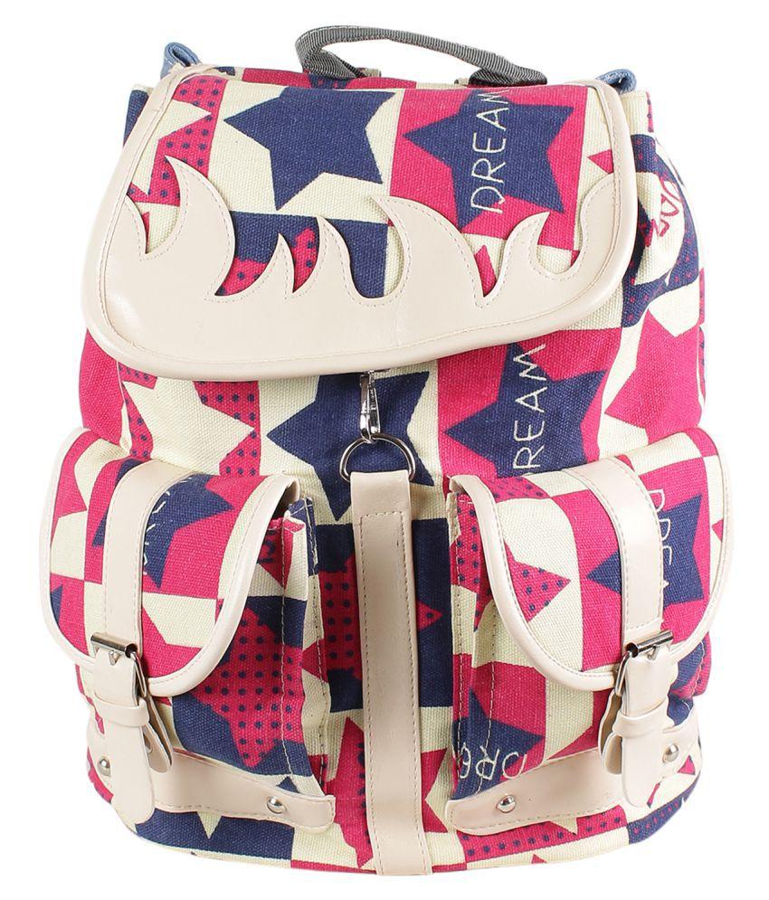 Tamirha Beige Fabric Backpack