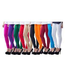 Inaya Creation Cotton Lycra Pack of 10 Leggings