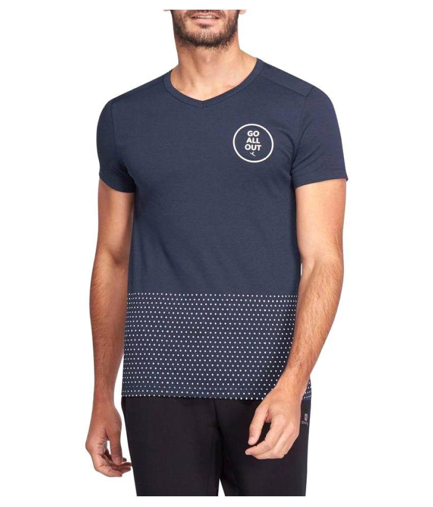 DOMYOS Slim Fit Gym and Pilates T-shirt