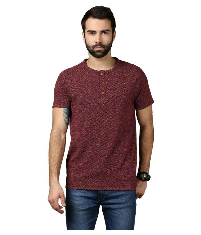 Mkh Maroon Henley T-Shirt
