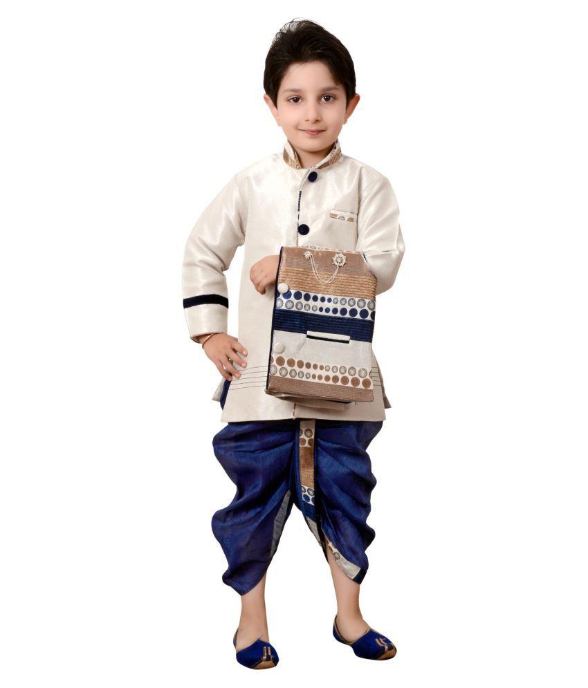 502aa11015 Arshia Fashions Boys Dhoti Kurta and waistcoat set ethnic wear for boys -  Buy Arshia Fashions Boys Dhoti Kurta and waistcoat set ethnic wear for boys  Online ...