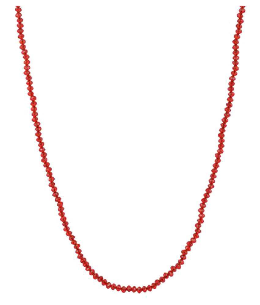 Eureka maroon Cristal chain