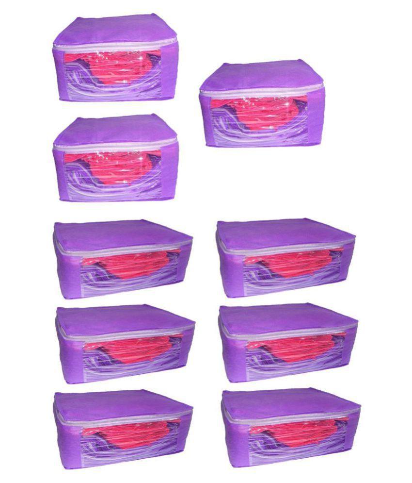 Aadhya Purple Saree Covers - 9 Pcs