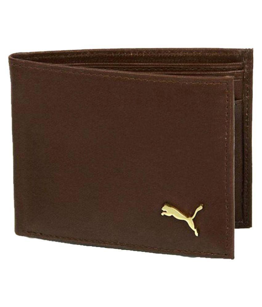 Puma F1 Leather Brown Formal Regular Wallet